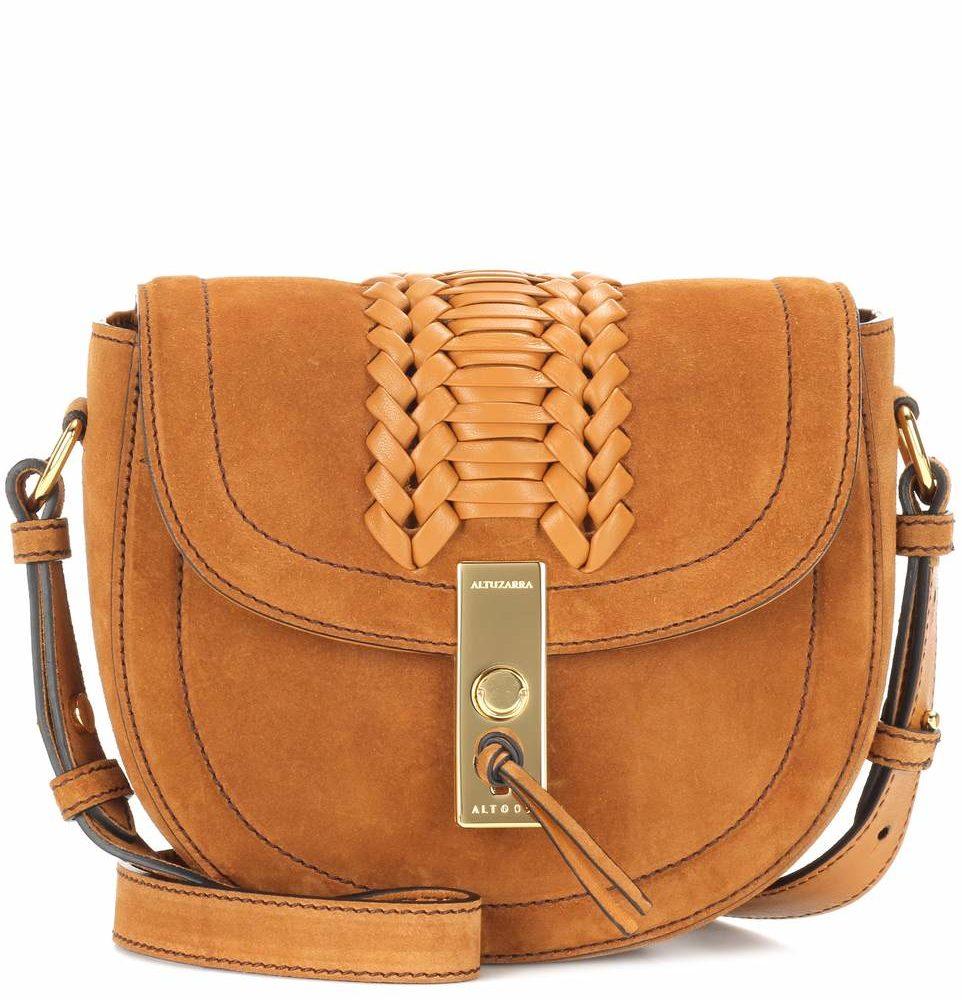 e7ab4a9e0 Altuzarra Ghianda Mini Saddle Suede Bag