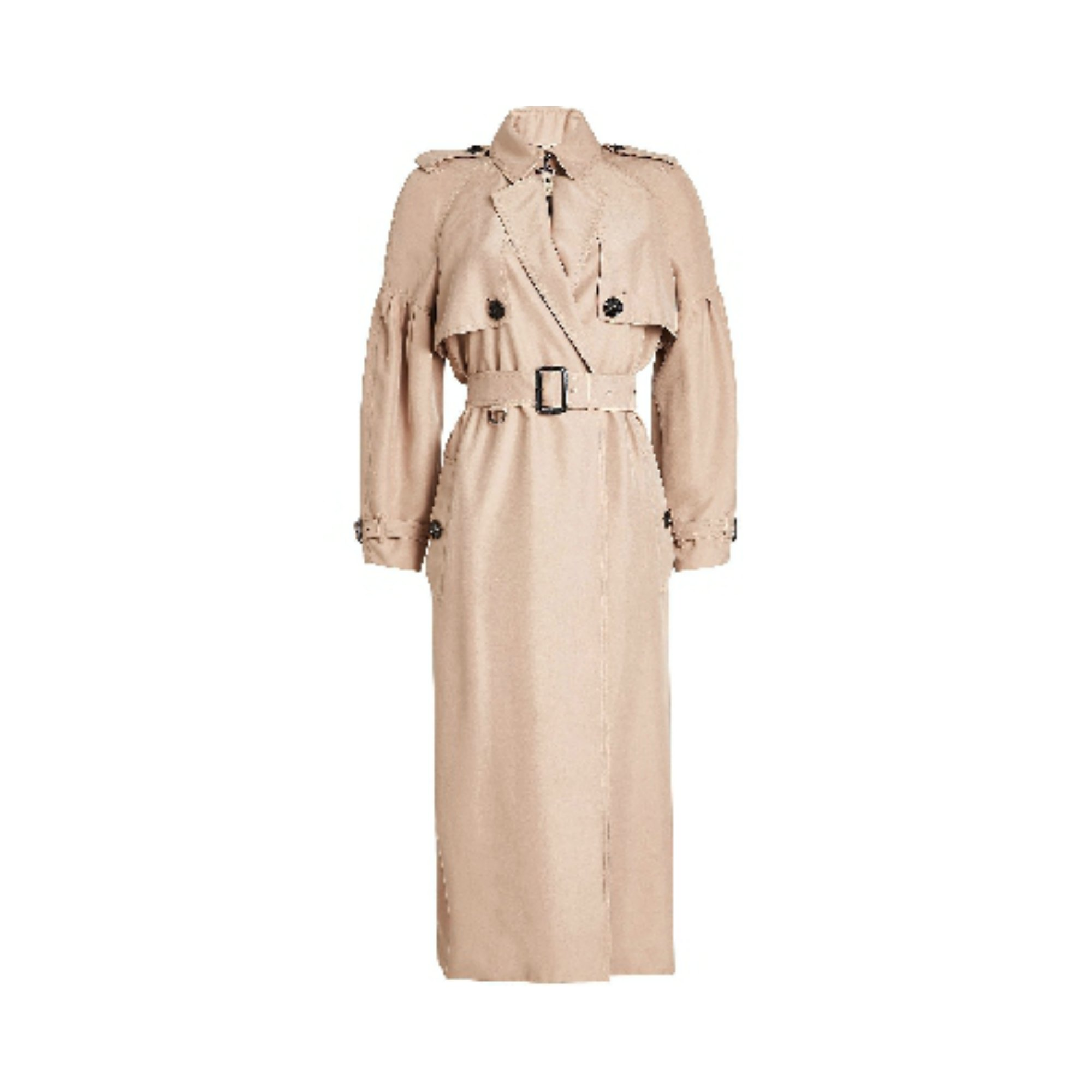 cd3dc0ea811 Burberry Silk Bishop Sleeved Trench - Meghan s Mirror