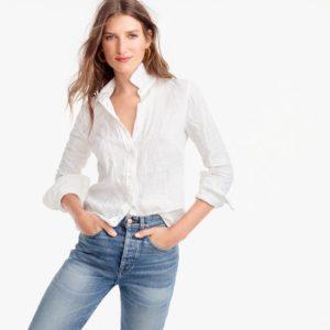 Meghan Markle White Linen Shirt