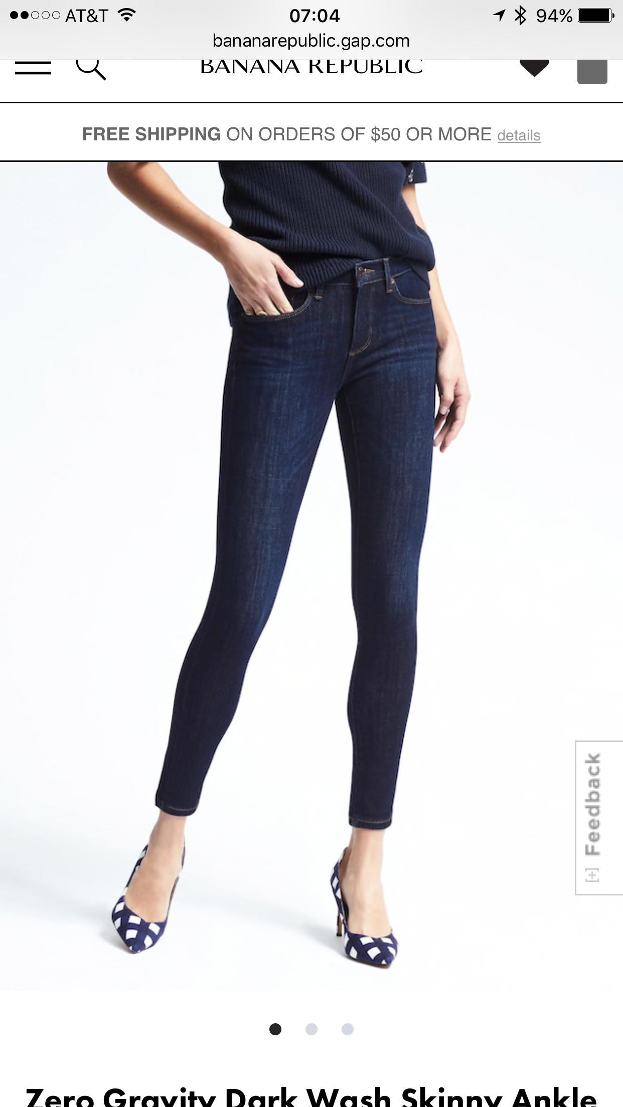 35f518a0d63b9 Banana Republic Zero Gravity Dark Wash Skinny Jeans - Meghan's Mirror