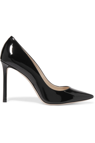 5d21bc14362f Jimmy Choo  Romy  Pumps in Black Patent Leather - Meghan s Mirror
