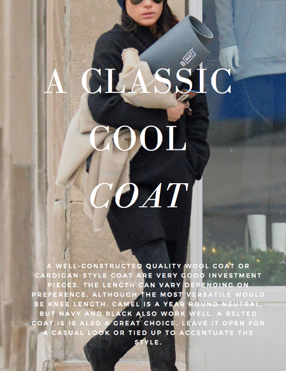 007081cbeeb A well-constructed quality wool coat or cardigan-style coat are very good  investment pieces. The length can vary depending on preference