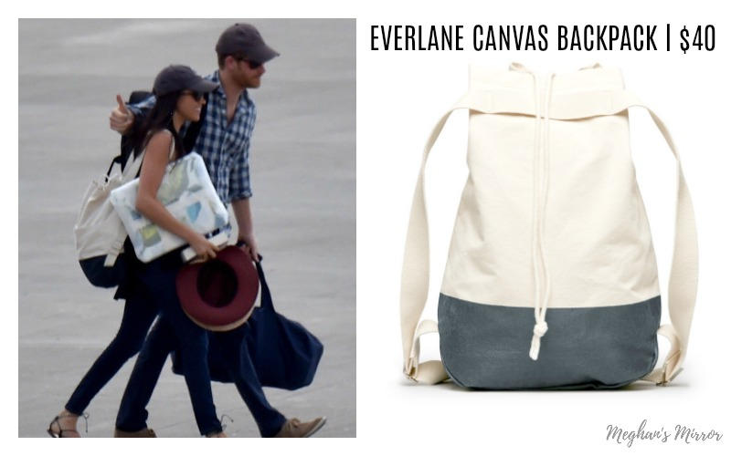 Meghan Markle Everlane Canvas Backpack