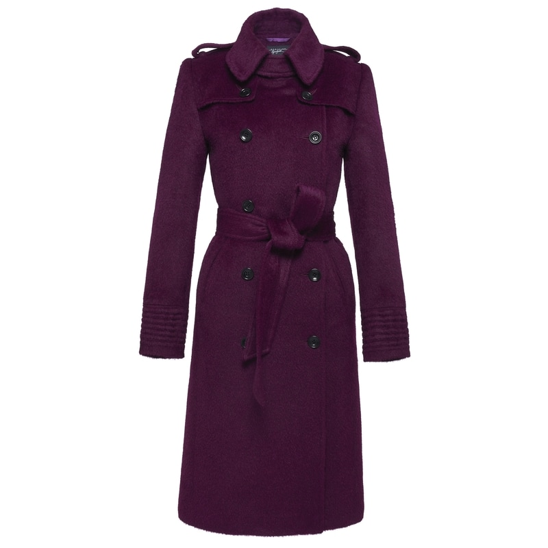 Sentaler Mulberry Double Breasted Trench Coat