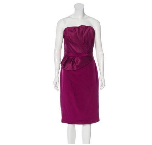 89ad68c762 Marchesa Notte Strapless Silk Dress - Meghan's Mirror