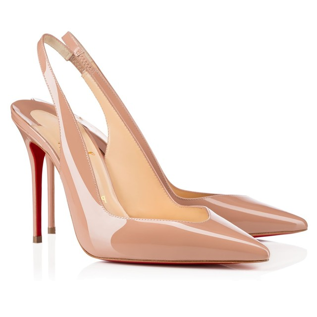 separation shoes 1f85c b0236 Christian Louboutin Fleuve 100 in Nude Patent - Meghan's Mirror