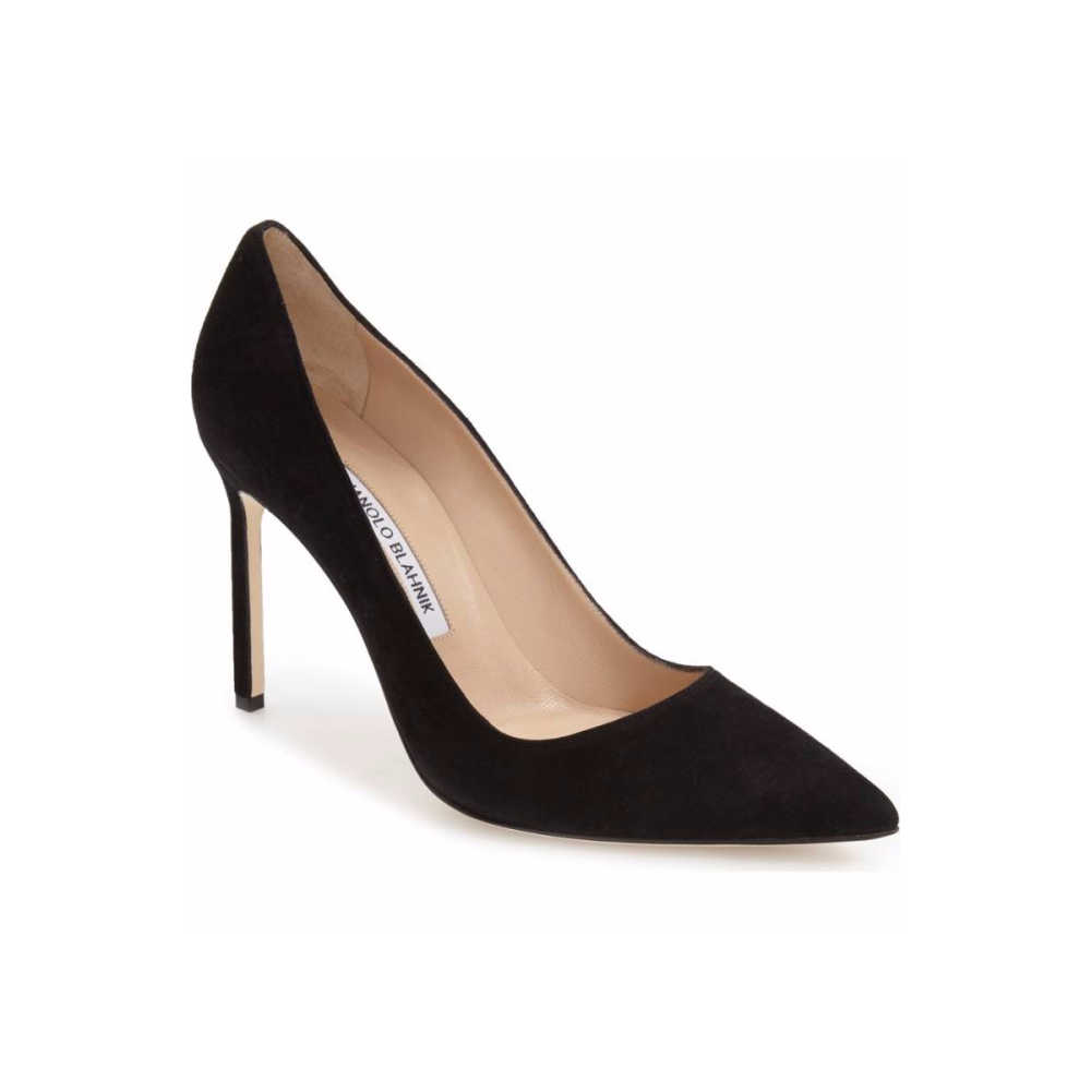 eae9ff45f Manolo Blahnik BB Pump in Black Suede - Meghan's Mirror