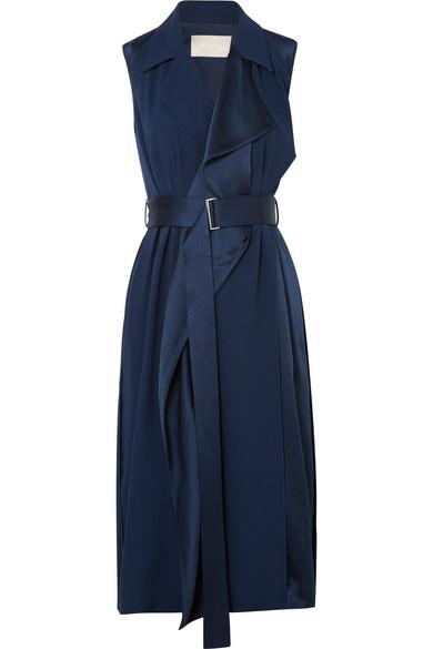 fcc5c10683 Jason Wu Belted Satin Wrap Dress - Meghan's Mirror