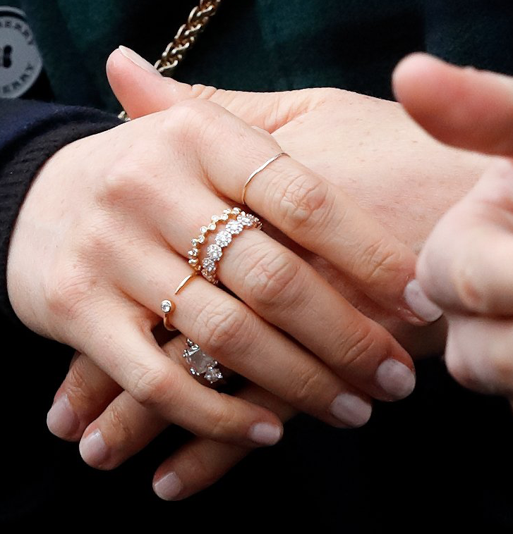 The Art Of The Meghan Markle Ring Stack Meghan S Mirror
