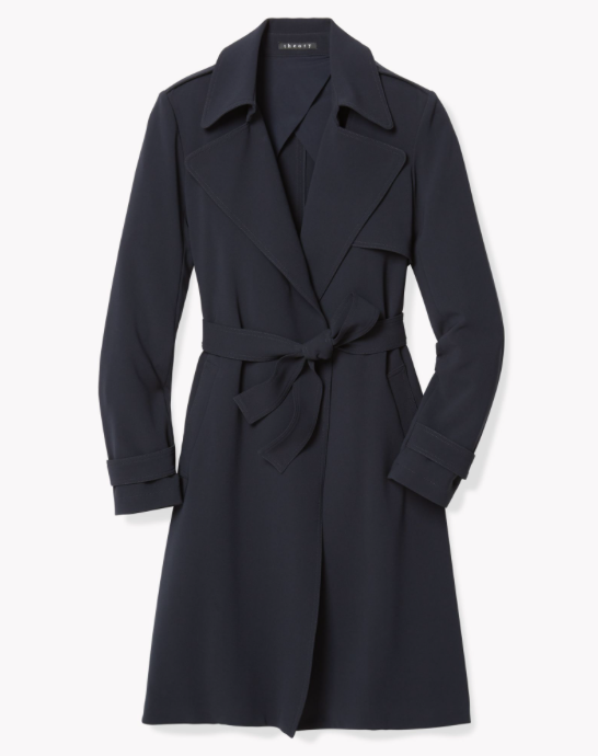 9f21843b17 Theory Oaklane Soft Crepe Trench Coat - Meghan's Mirror
