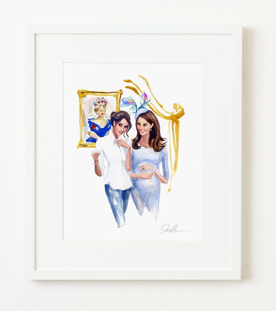 Meghan Markle Kate Middleton Inslee Print