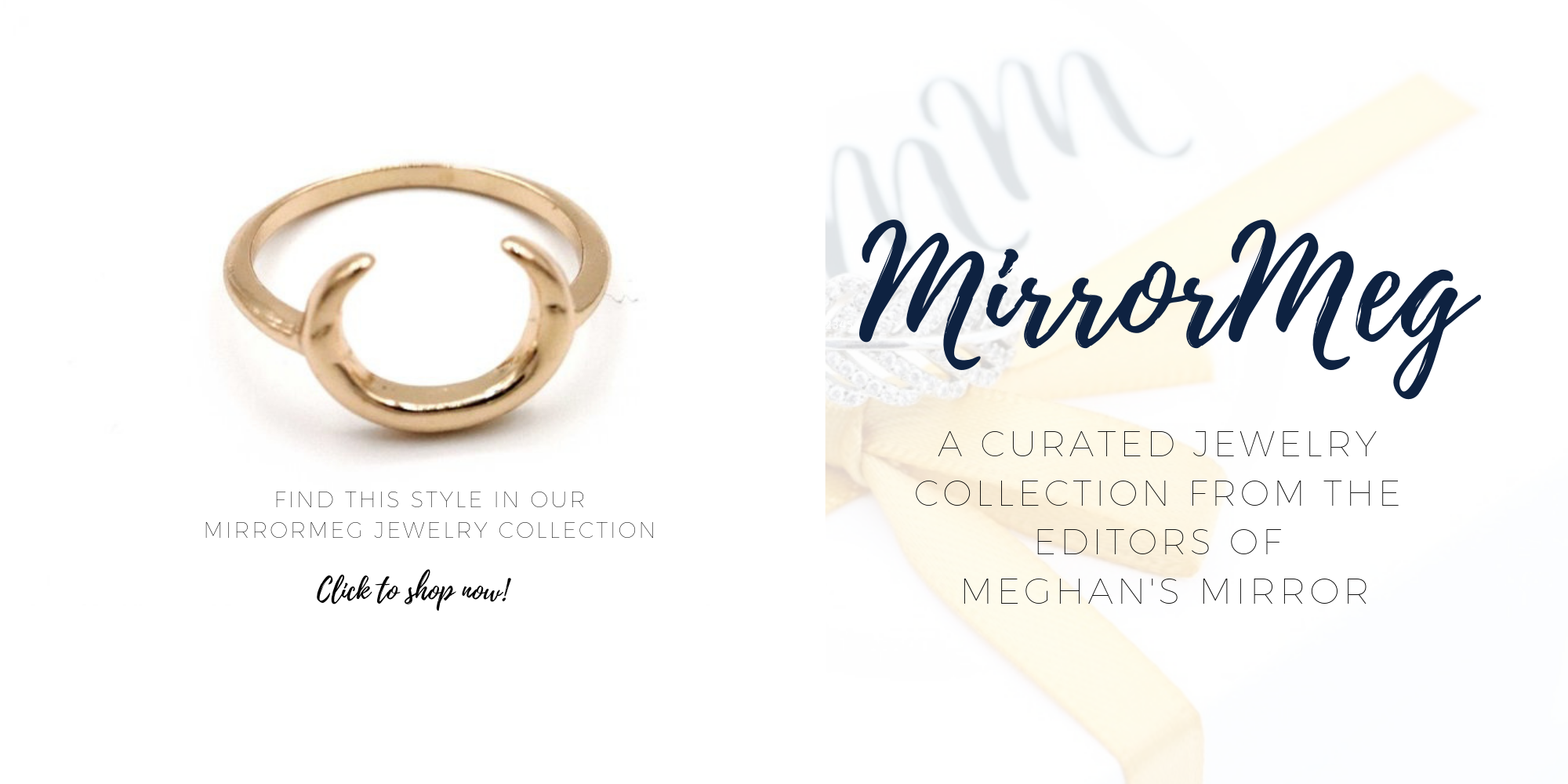 MirrorMeg Moon Ring Meghan Markle Sussex Etsy