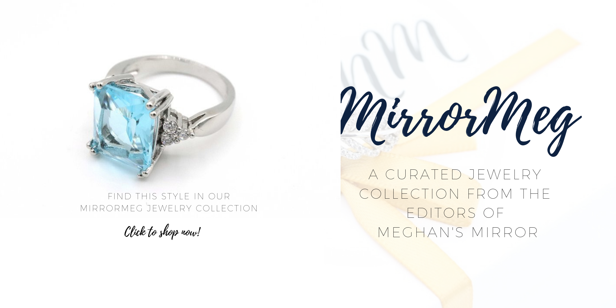 MirrorMeg Aquamarine Ring Meghan Markle Sussex Etsy