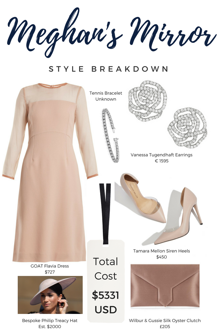 7596abc2a5a6 Heels: Tamara Mellon Siren Pump in Blush Dress: Slightly bespoke version of  the Goat Fashion Flavia Dress Hat: Bespoke Philip Treacy Hat (Most similar  to ...