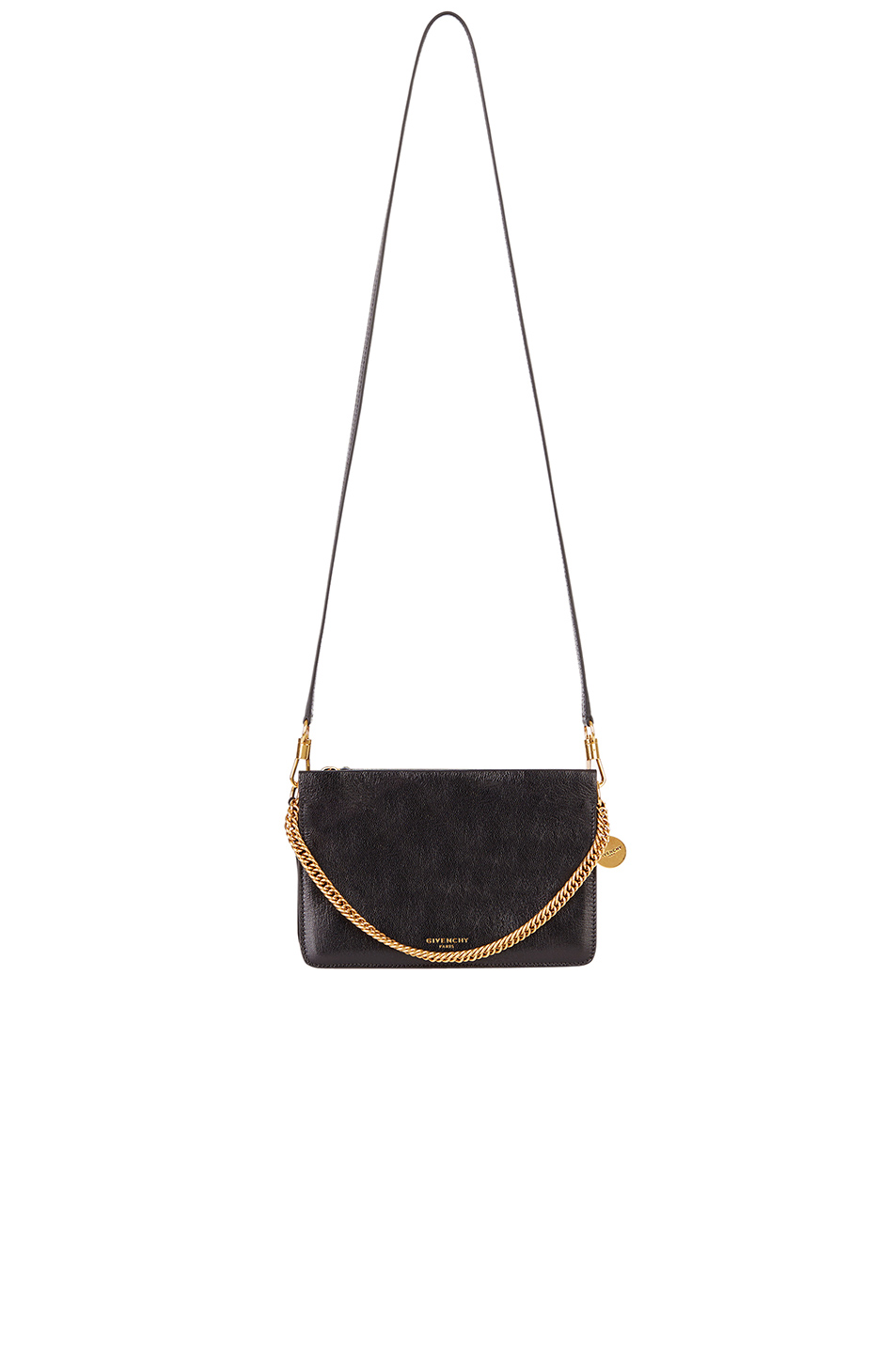 Goatskin leather with suede lining and brushed gold-tone hardware ... bca6e8c75cfec