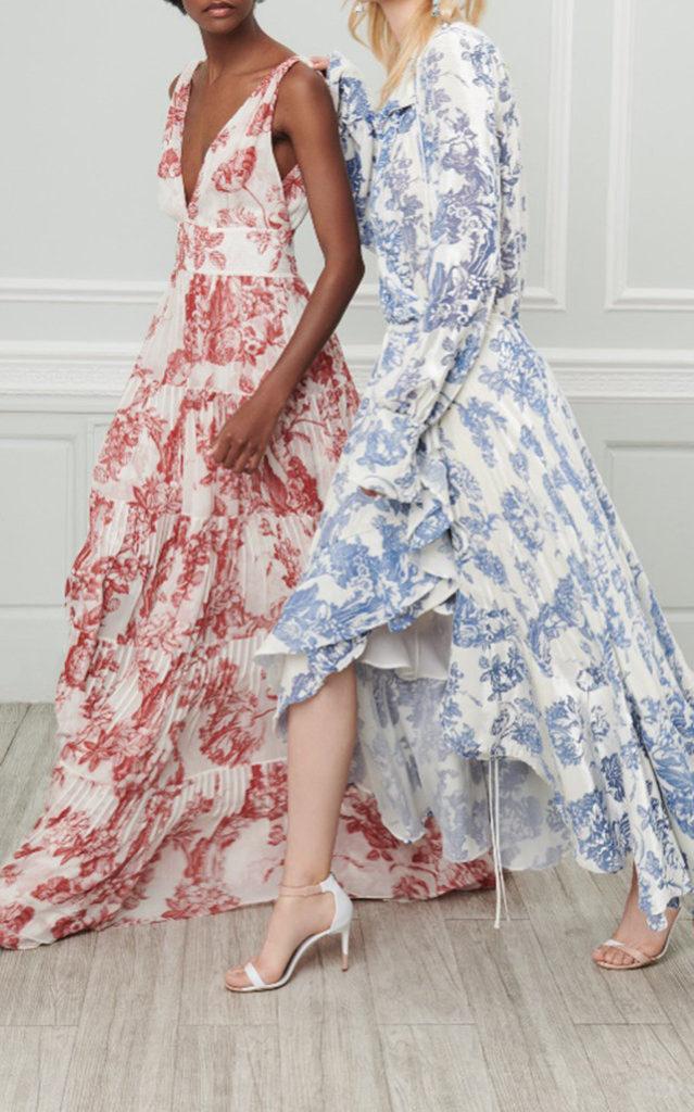Meghan Markle Oscar de la Renta Chiffon Dress