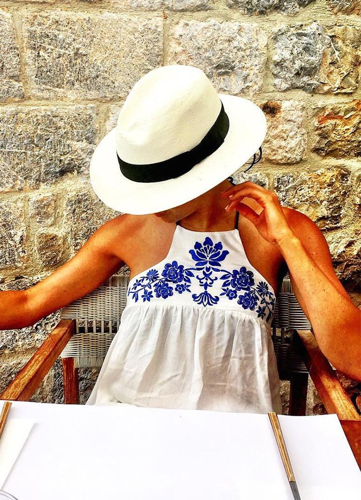 Meghan Markle Panama Hat Instagram