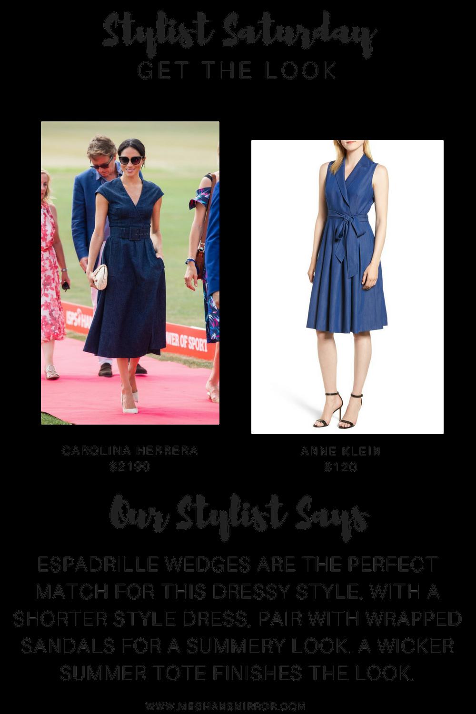 Meghan Markle Sussex Denim Carolina Herrera Dress MirrorMeg