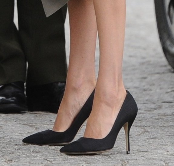 33bee635d For the Royal Tour of Ireland, Meghan wore a pair of black coloured canvas  and grosgrain heels from Paul Andrew, a British-born, New York based  designer.