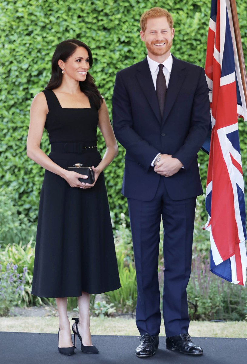 10ba4613ac Harry and Meghan concluded their first day in Dublin by attending a summer  garden party at Glencairn House