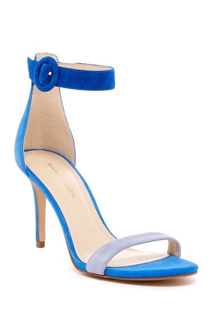 a9d64c4bc3e Marc Fisher Bettye Blue Suede Sandals - Meghan s Mirror