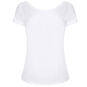 f6ab2715c706f6 Lavender Hill White Boat Neck T-Shirt