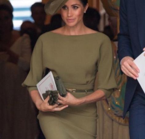 5f7c585418c6 Bespoke Olive Green Ralph Lauren Dress - Meghan s Mirror