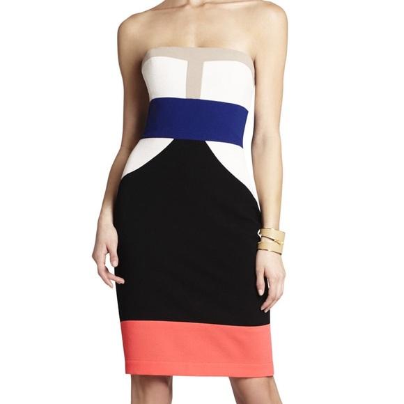 a783cb1d1c8 BCBG Max Azria Reese Colourblock Dress - Meghan s Mirror