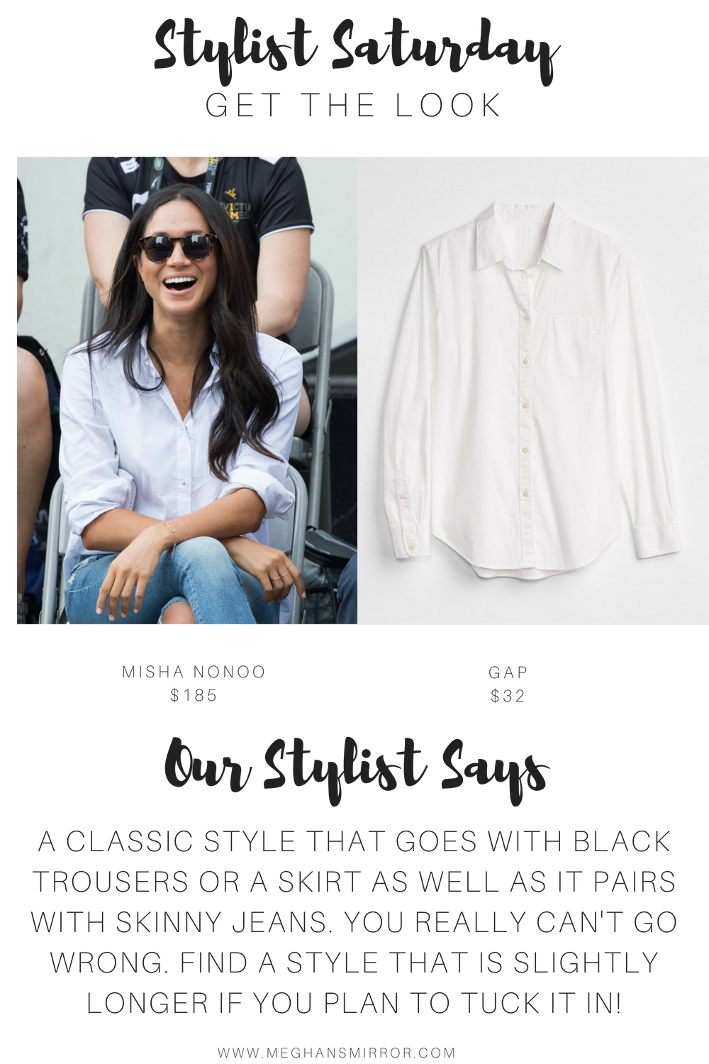Meghan Markle Husband Shirt Look Alikes