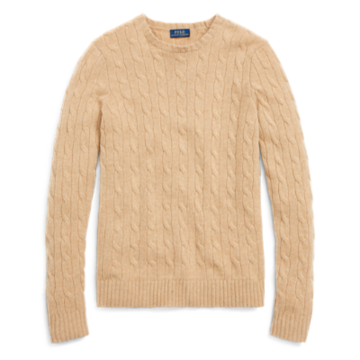 classic shoes official images latest discount Ralph Lauren Camel Cashmere Cable-Knit Sweater - Meghan's Mirror
