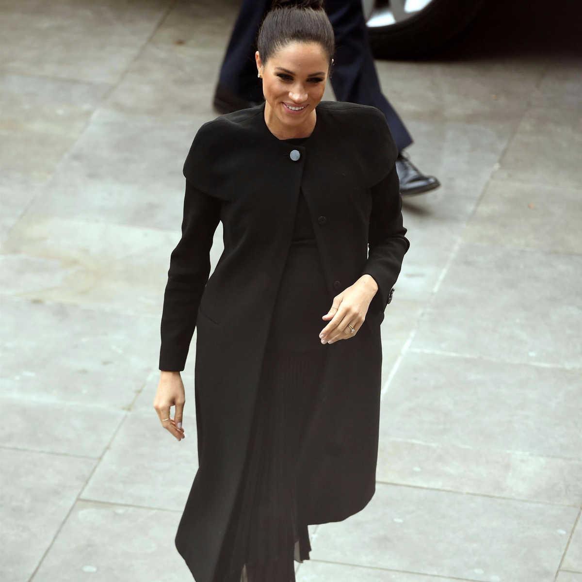 Bespoke Black Givenchy Coat - Meghan s Mirror 84219563efc80