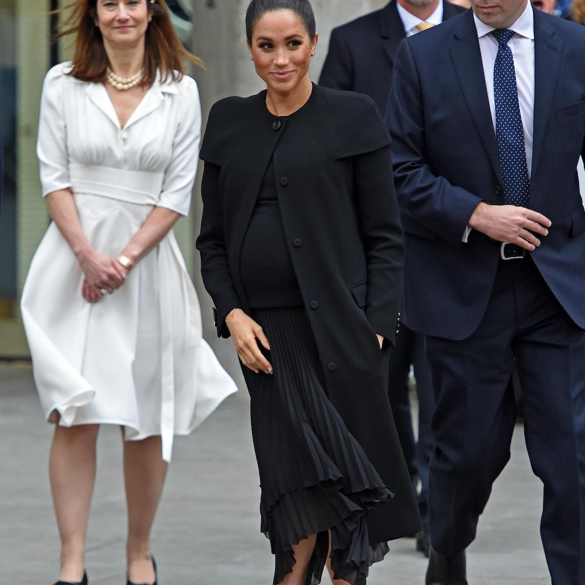 Givenchy Black Pleated Silk Dress