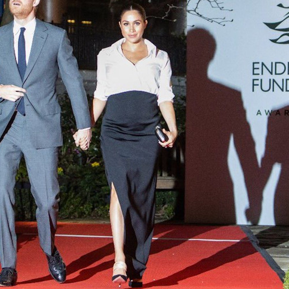 Givenchy Shirt Gown Bespoke Meghan Markle