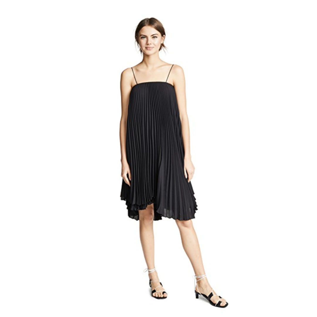 3ced714047 Loyd Ford Pleated Black Mini Dress - Meghan s Mirror
