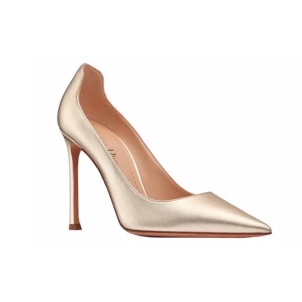 Christian Dior D-Moi Gold Heels