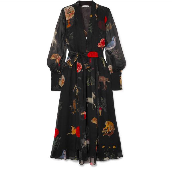 Oscar de la Renta Chiffon Dress Meghan Sussex