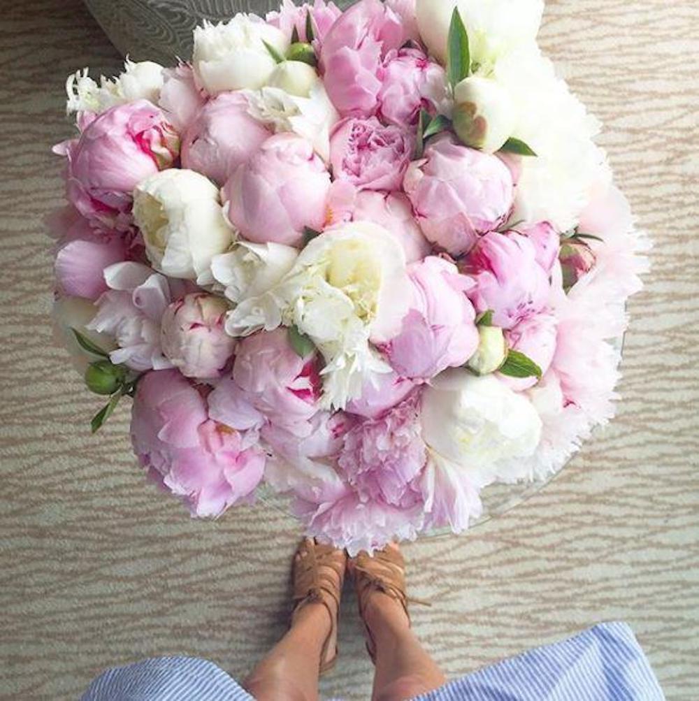 Meghan Markle Instagram Valentine's Day Peonies
