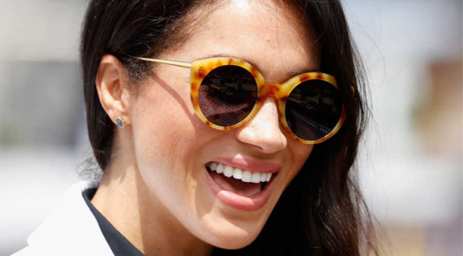 badc93fd03 Wearing a yellow tortoiseshell pair of Illesteva s  Palm Beach  glasses