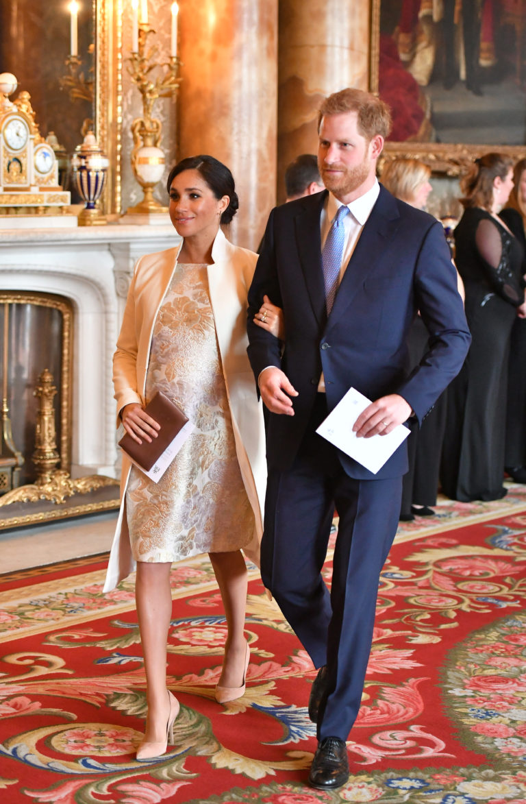 Meghan Markle Brocade Dress