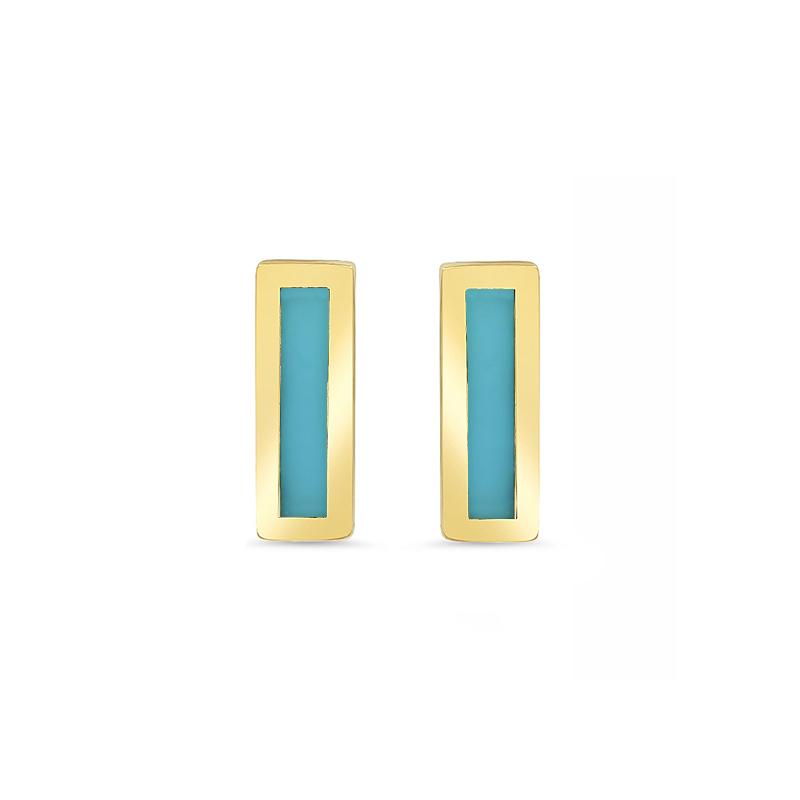 Meghan Markle Jennifer Meyer Turquoise Bar Earring