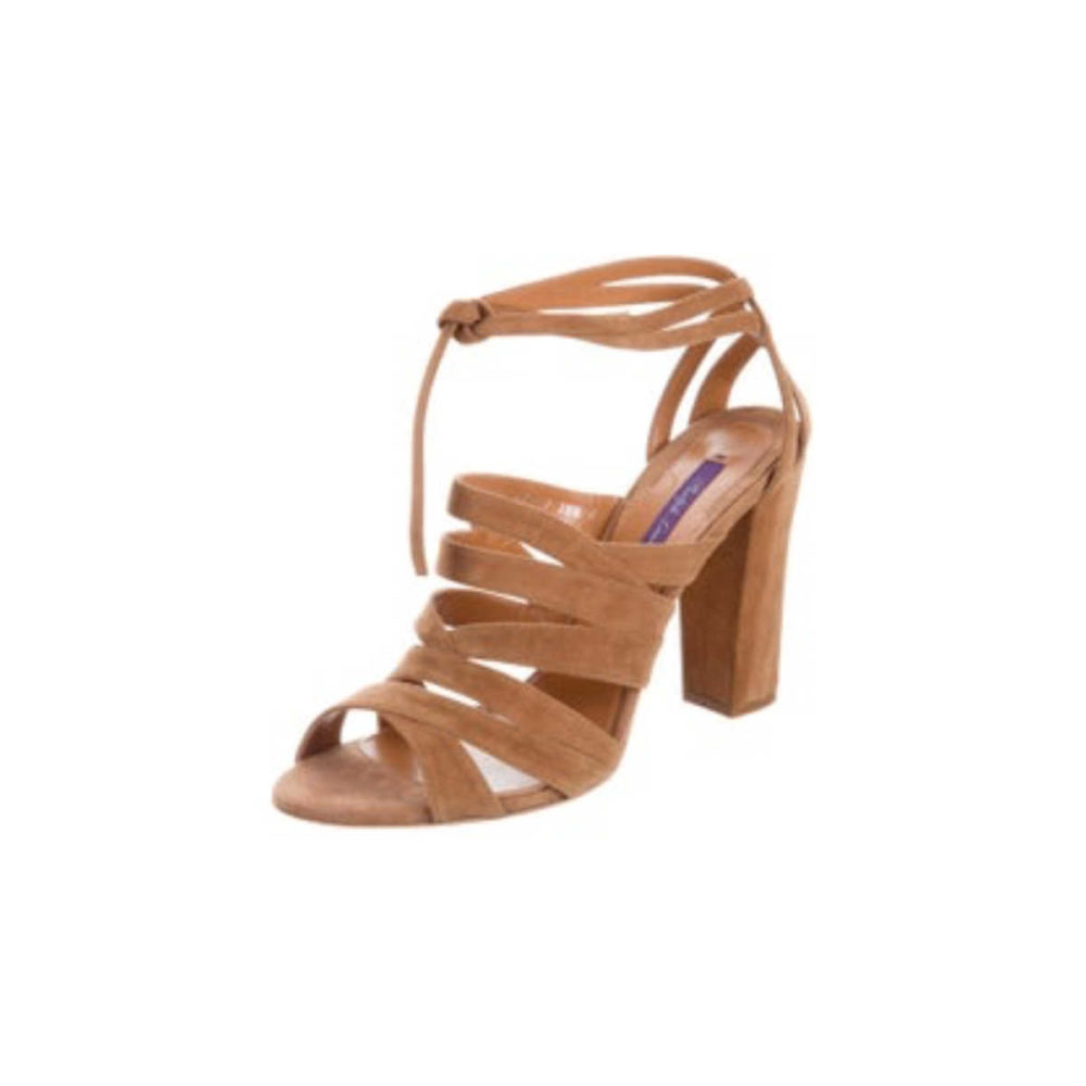 Meghan Markle Brown Suede Wimbledon Sandals
