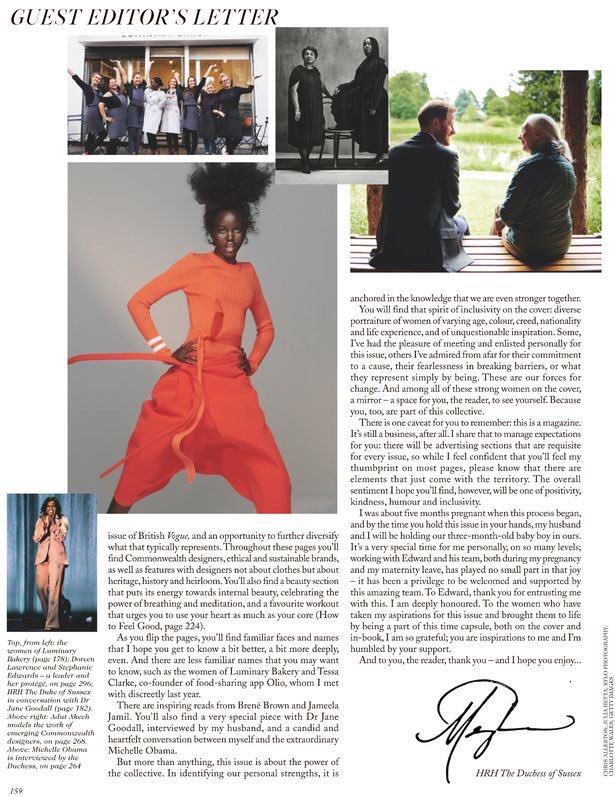 Meghan Edits British Vogue - Meghan's Mirror