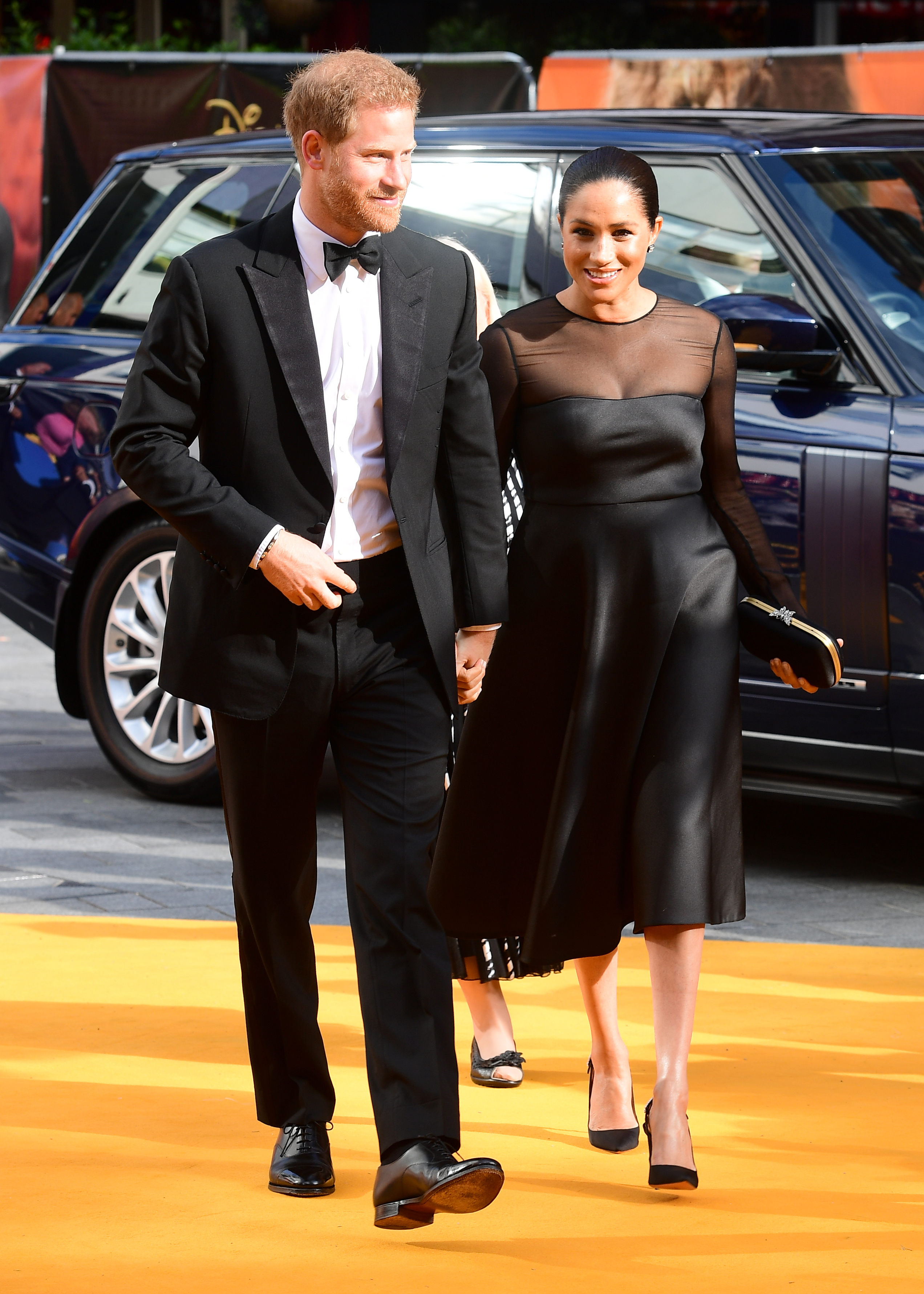 The Duke and Duchess of Sussex attending Disney's The Lion King European Premiere held in Leicester Square, London.