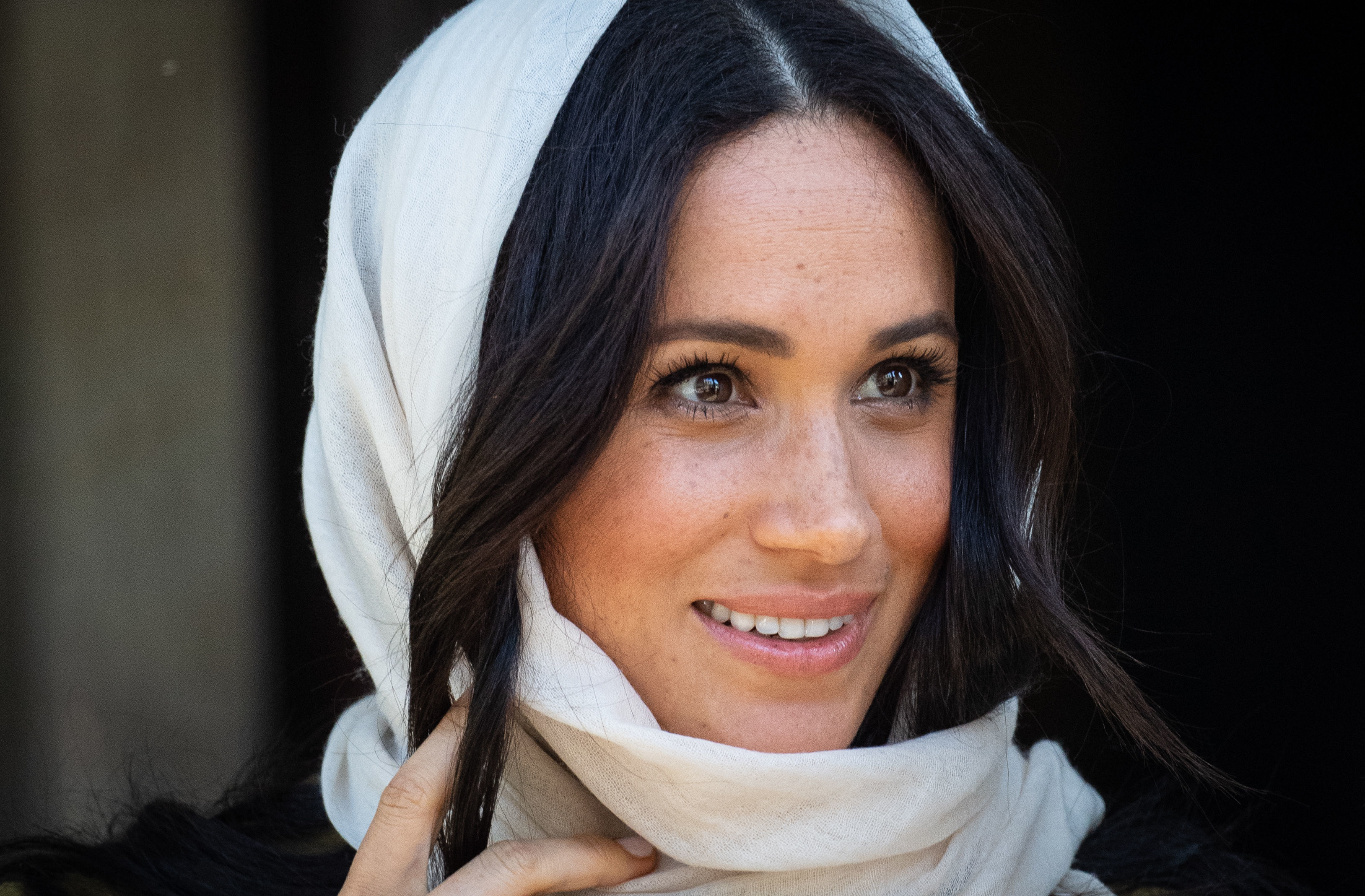 The Duchess of Sussex during a visit to the Auwal Mosque in Bo-Kaap, Cape Town, on day two of the Royal couple's visit to South Africa. PA Photo. Picture date: Tuesday September 24, 2019. See PA story ROYAL Tour .