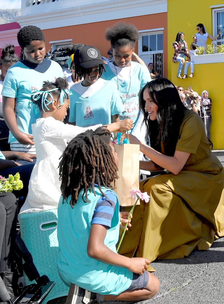 The Duke and Duchess of Sussex visit the Bo Kaap area of Cape Town to mark Heritage Day, a celebration of the great diversity of cultures, beliefs and traditions in South Africa, on day two of their tour of Africa.
